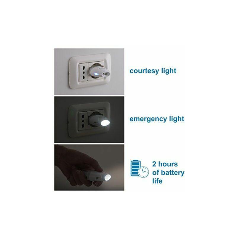 ELECTRALINE 58303torche d'urgence automatique avec fonction lumière de courtoisie, LED,