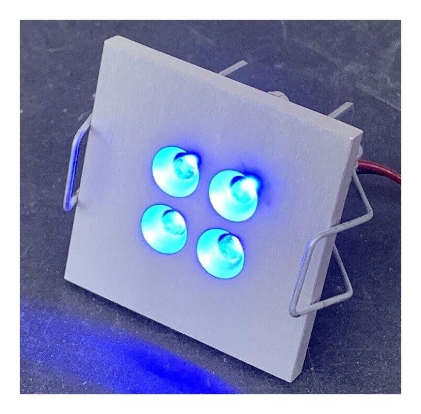 DELTA LIGHT Encastré LED 2W carré alu anodisé 50X50mm lumière bleue 14V DC (sans driver