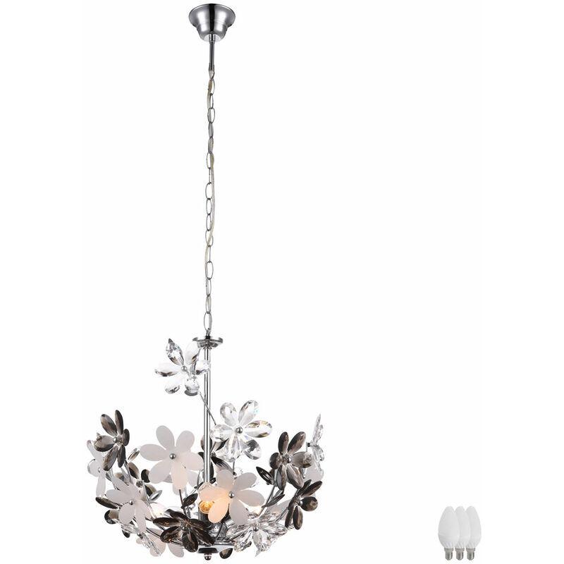 ETC-SHOP Lumière d'éclairage pendulaire fleurs fleur florales suspendu lampe de plafond