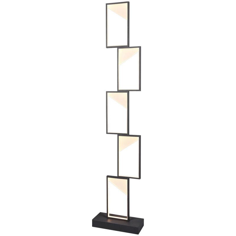 Trio Leuchten - Lampadaire LED, anthracite, variateur d'intensité, L 28 cm, CAFU