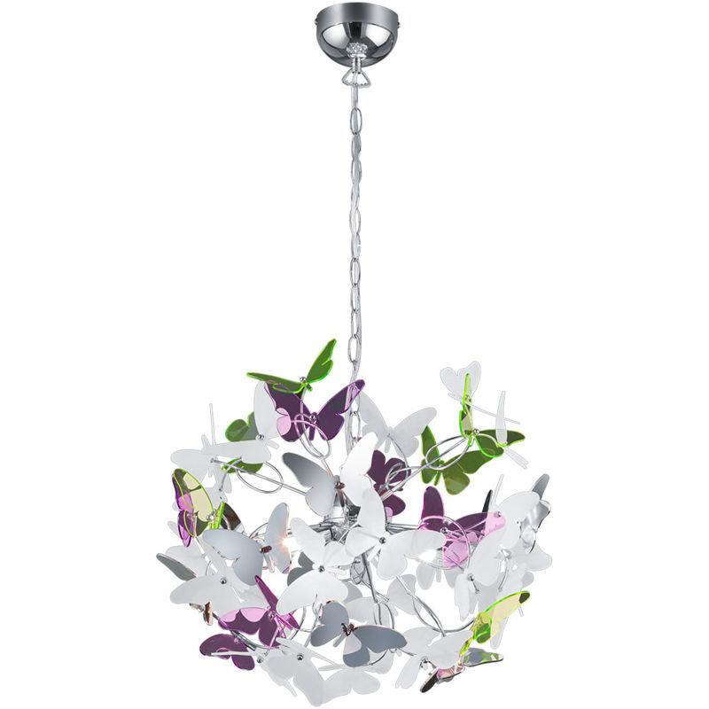 REALITY LEUCHTEN Plafonnier suspension salon éclairage papillon suspension colorée réalité