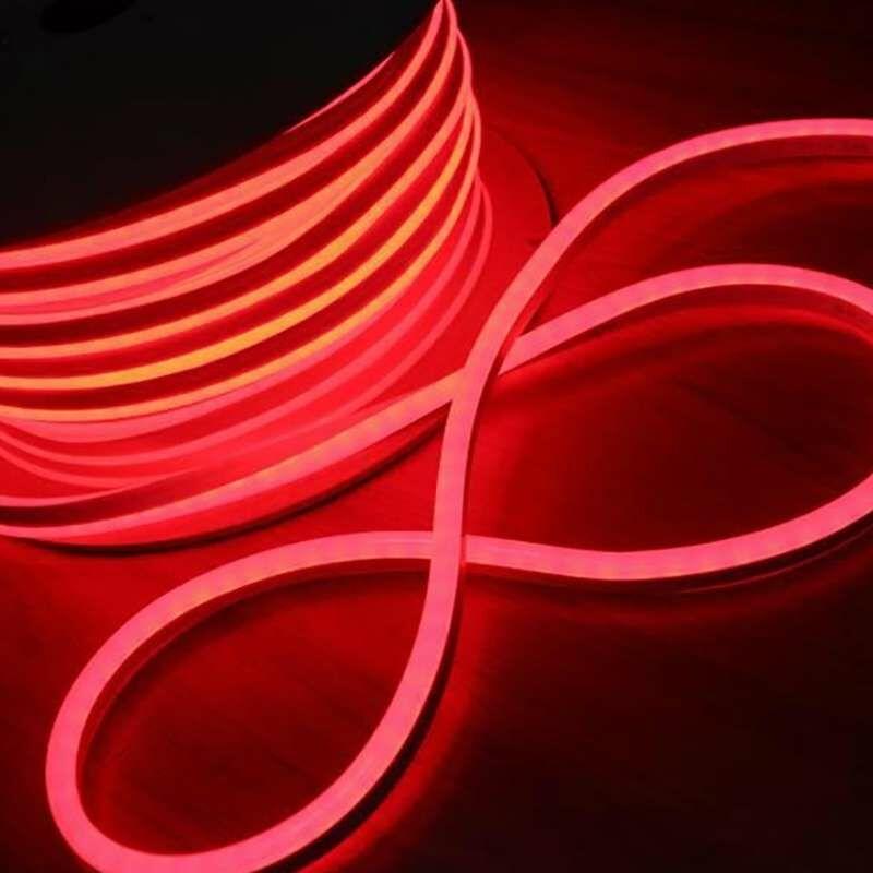 Leclubled - Néon LED Flexible lumineux   Rouge - 50m
