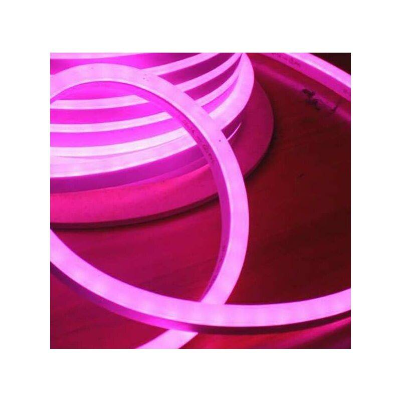 Leclubled - Néon LED Flexible lumineux   Rose - 50m