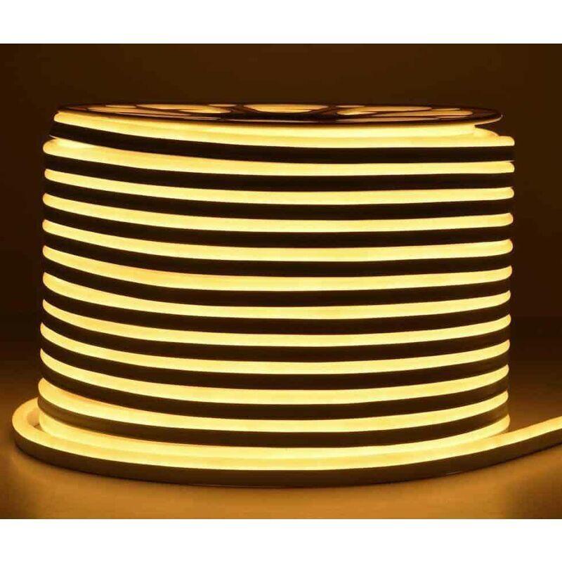LECLUBLED Néon LED Flexible lumineux   Blanc Chaud 3000K - 50m