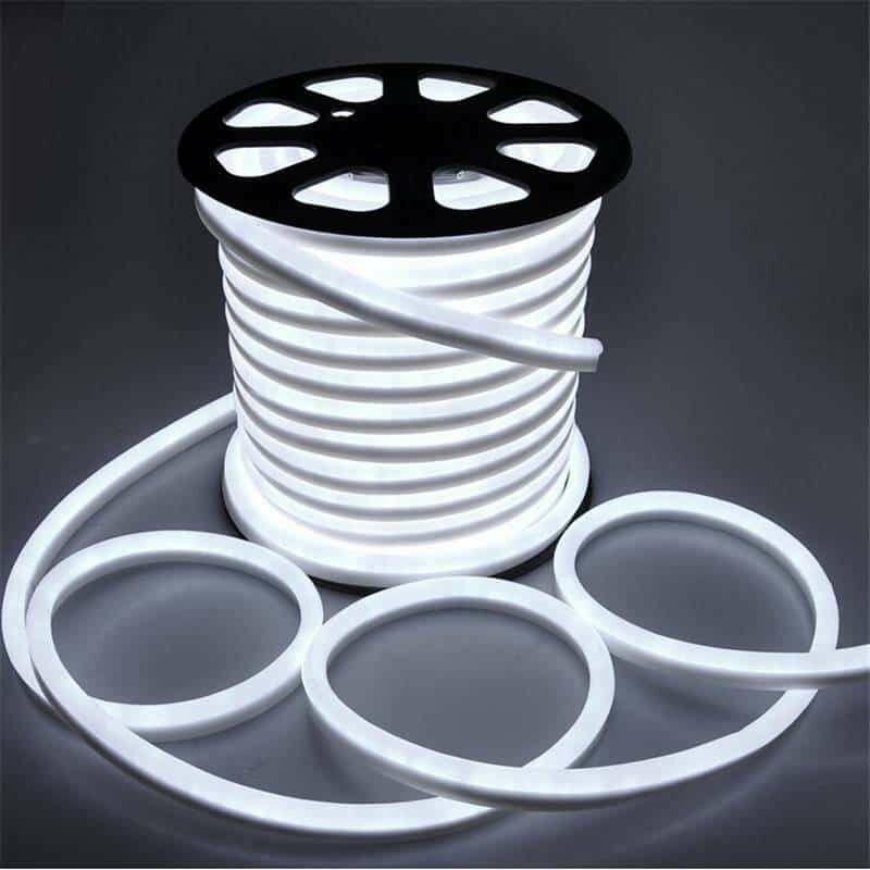 Leclubled - Néon LED Flexible lumineux   Blanc Froid 6000K - 50m