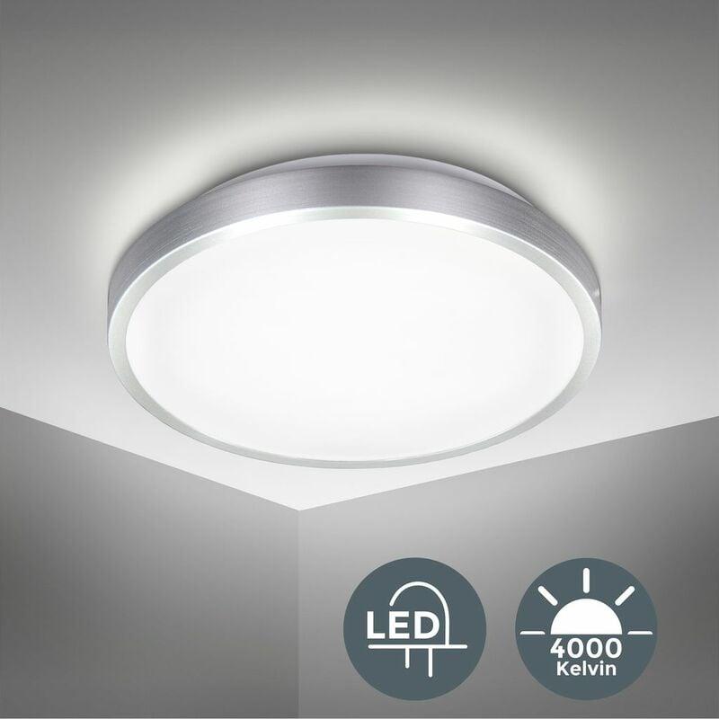 B.K.LICHT Plafonnier LED finition titane éclairage plafond LED 15 W blanc neutre salon