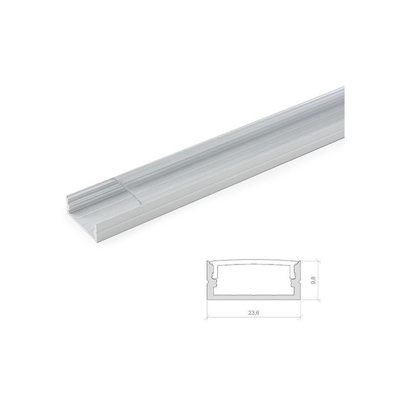 GREENICE Profil Aluminium Pour Bande Led Double - Diffuseur Laiteux x 2M (LLE-ALP014)