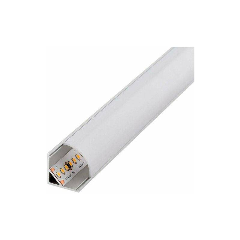 ILUMINASHOP Profilé Aluminium L pour Coins 12V/24V 1 Mètre - Iluminashop