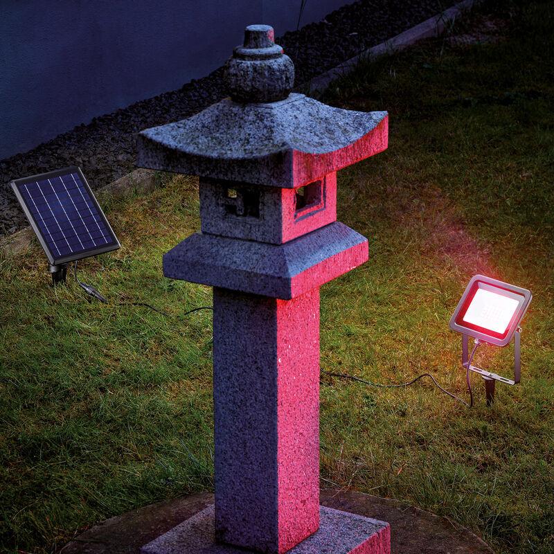 ESOTEC Projecteur solaire RGB projecteur coloré lumière solaire LED décoration de