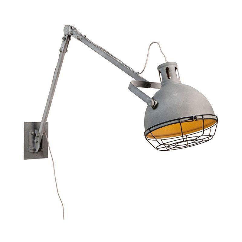 QAZQA Applique industrielle réglable en métal - Rela Qazqa Rustique Luminaire