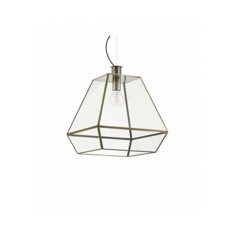 IDEAL LUX Suspension Brune ORANGERIE 1 ampoule en métal