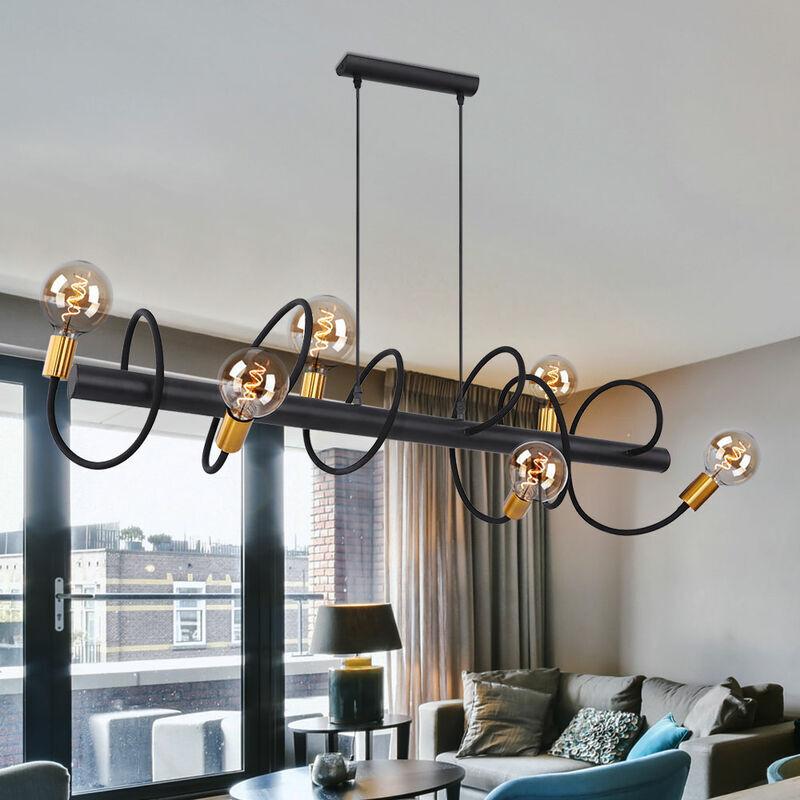 ETC-SHOP Plafonnier à spot à filament pendulaire BLACK GOLD lampe suspendue flexible