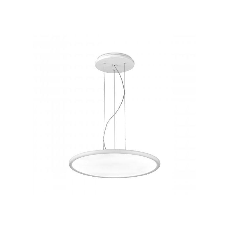 LEDS C4 Suspension Net, aluminium et polystyrène, blanc mat, 57 cm