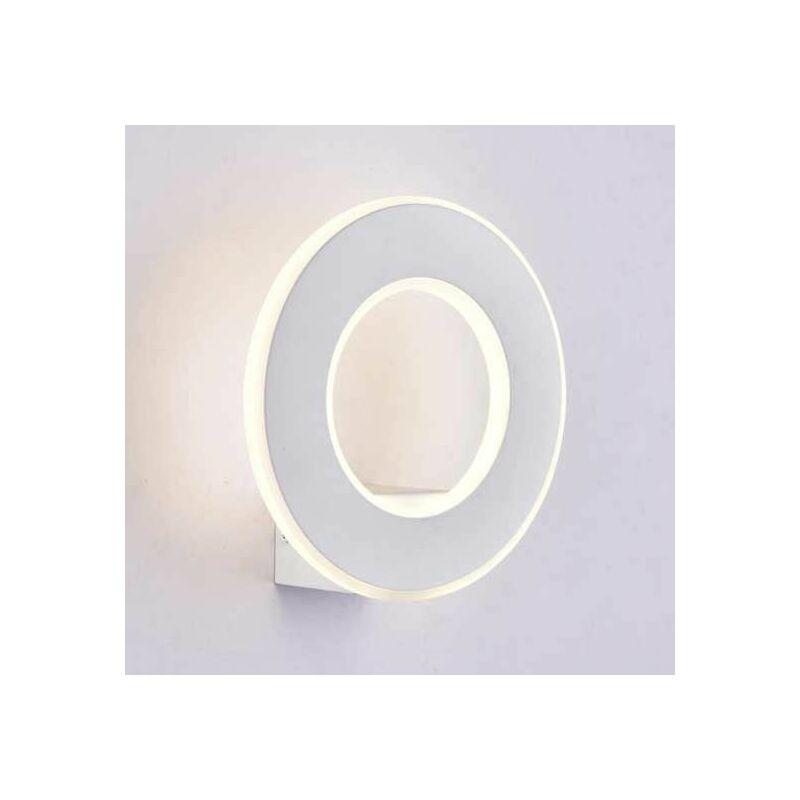 V-TAC VT-710 Applique murale LED 9W blanc chaud 3000K corps aluminium rond blanc IP20