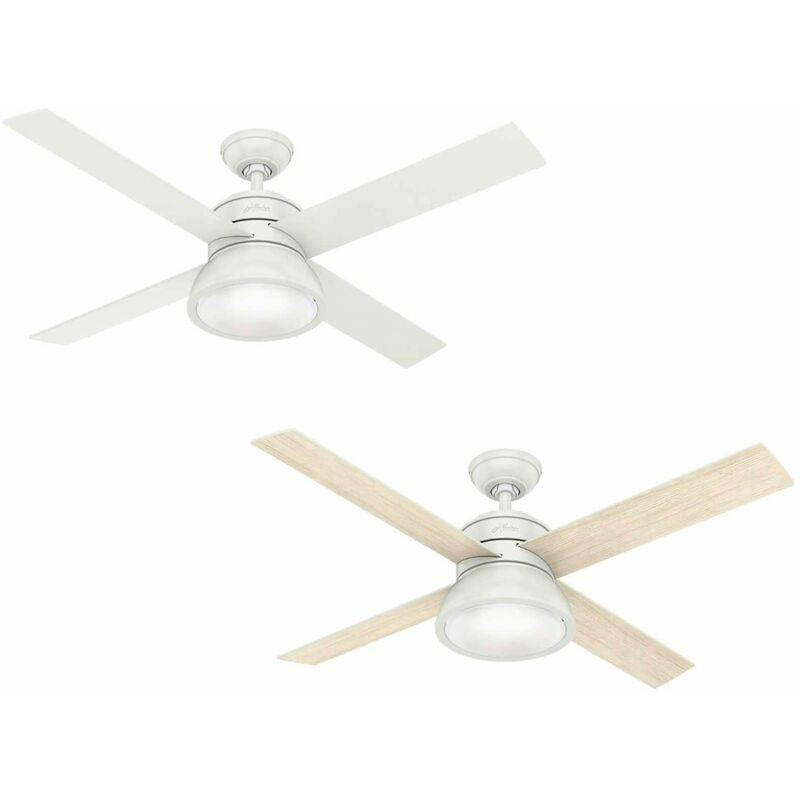 Hunter Fans - Ventilateur de plafond Loki Blanc 132 cm avec lumière