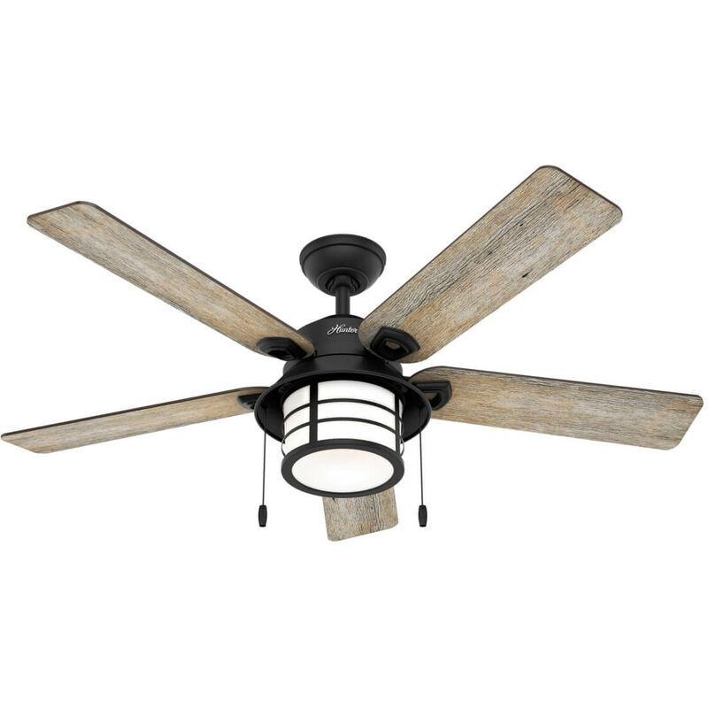Hunter Fans - Ventilateur de plafond Santorini 132 cm avec éclairage