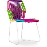 PRIVATEFLOOR Chaise de jardin Style Patricia Urquiola Tropicalia - Piètement blanc <br /><b>96.90 EUR</b> ManoMano