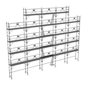 ECHAFAUDAGE DIRECT - MATISERE Echafaudage fixe de 180m² - Structure + Planchers + Plinthes - Version - Publicité