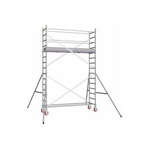 ECHAFAUDAGE DIRECT - MATISERE D. Echafaudage roulant alu - embase simple - hauteur de travail max 6.90m - Publicité