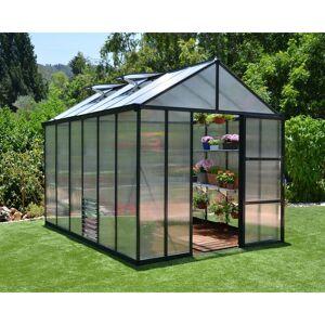 PALRAM Serre de Jardin GLORY 8x12 gris anthracite - 8.9m² - Publicité