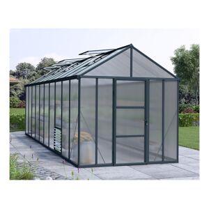 Palram - Serre de Jardin GLORY 8x20 gris anthracite - 14.7m² - Publicité