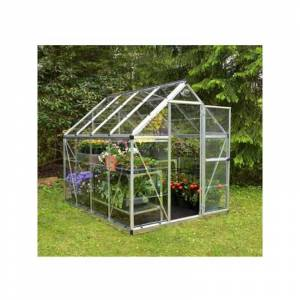 PALRAM Serre de jardin en polycarbonate Harmony 4,50 m², Couleur Vert, Ancrage au sol - Publicité