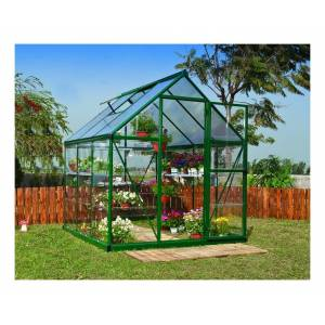 PALRAM Serre de jardin HYBRID 6x6 vert - 3.6m² - Publicité