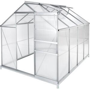 TECTAKE Serre de Jardin Polycarbonate 4,41 m² + 1 Embase en Acier - Publicité