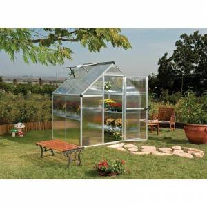 PALRAM Serre de jardin MYTHOS 6x4 argent - 2.3m² - Publicité