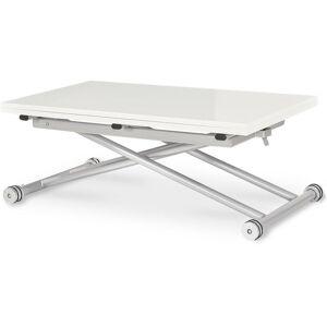 Intensedeco - Table basse relevable Philadelphia Blanc laqué - Publicité