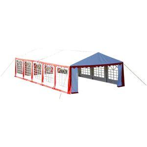 VIDAXL Dessus de tente de réception avec panneaux 10x5m Rouge et blanc - Publicité