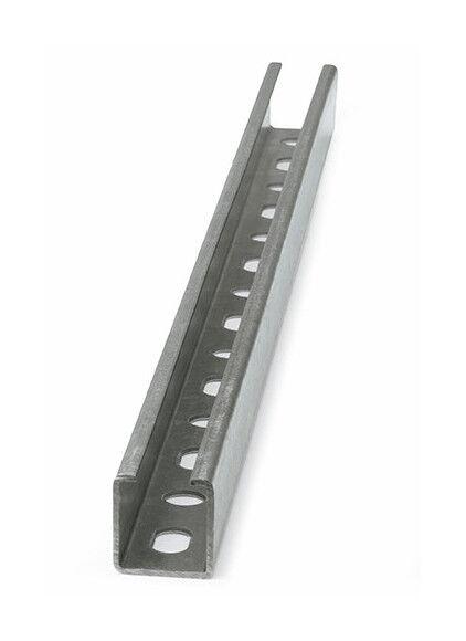 Index - 10 rails, guides perforés Inox A2 27 x 18 x 1,25 x 2000 mm - GPI271812 -