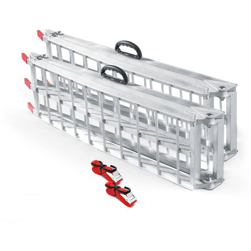 Wiltec - 2x Rampe de chargement Moto ATV pliable Aluminium Rail d'accès 226cm