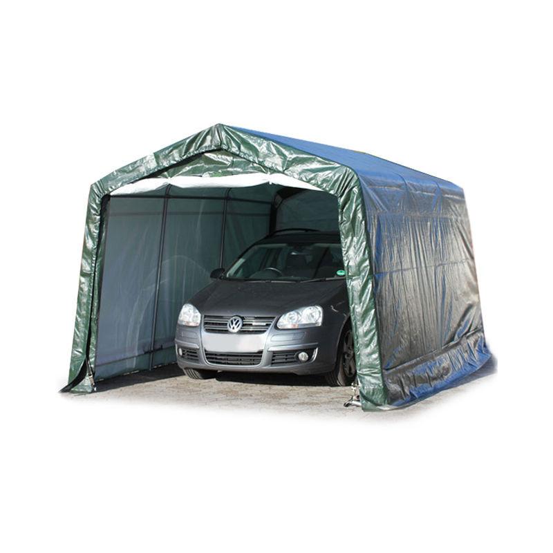 INTENT24.FR 3,3 x 4,8 m garage, abri de stockage, PE 260 g/m², tente garage vert foncé