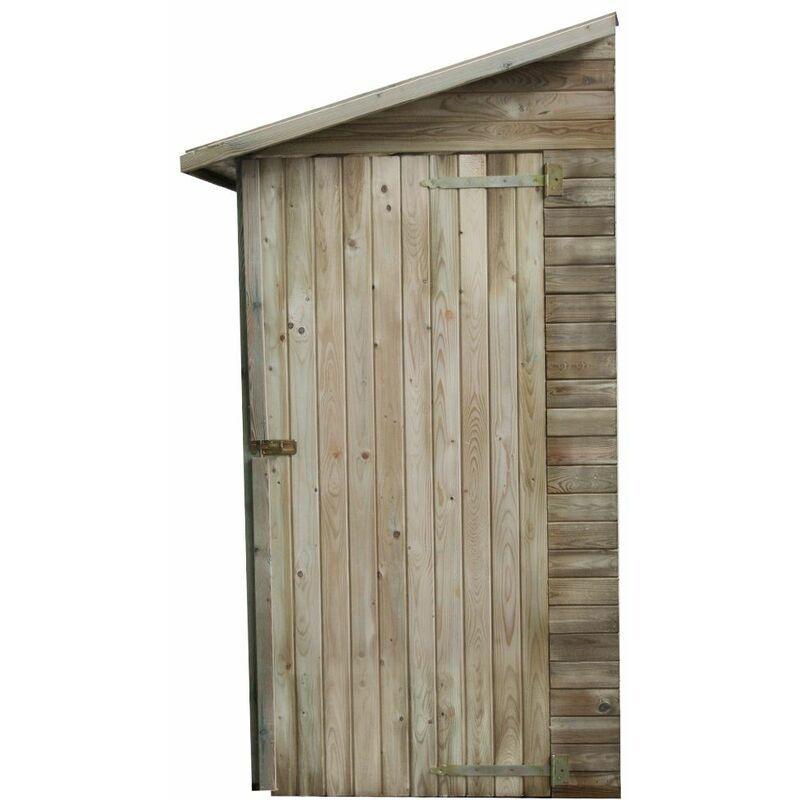 Cémonjardin - Armoire de rangement de jardin adossé en bois traité 2.63m², Elisa