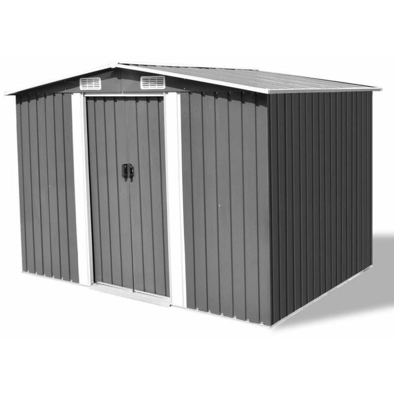 Youthup - Abri de stockage pour jardin Métal Gris 257 x 205 x 178 cm