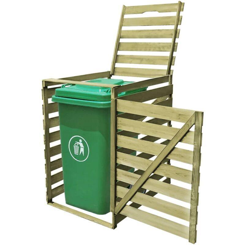 Ilovemono - Abri pour poubelle 240 L Bois imprégné