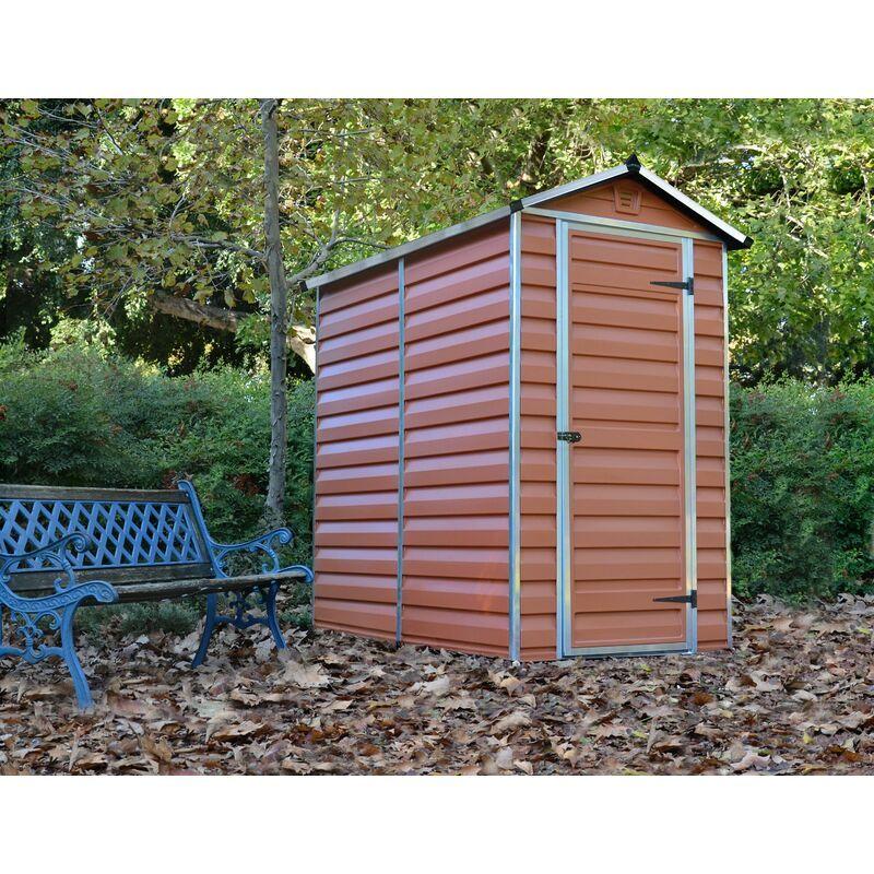 PALRAM Abri de jardin SKYLIGHT 4X6 couleur ambre - 2.1m²