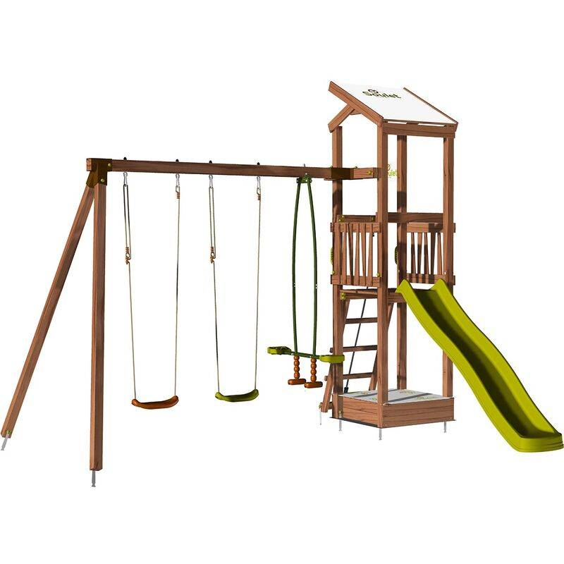 Soulet - Aire de jeux avec portique et bac à sable - HAPPY Swing 120 sans option