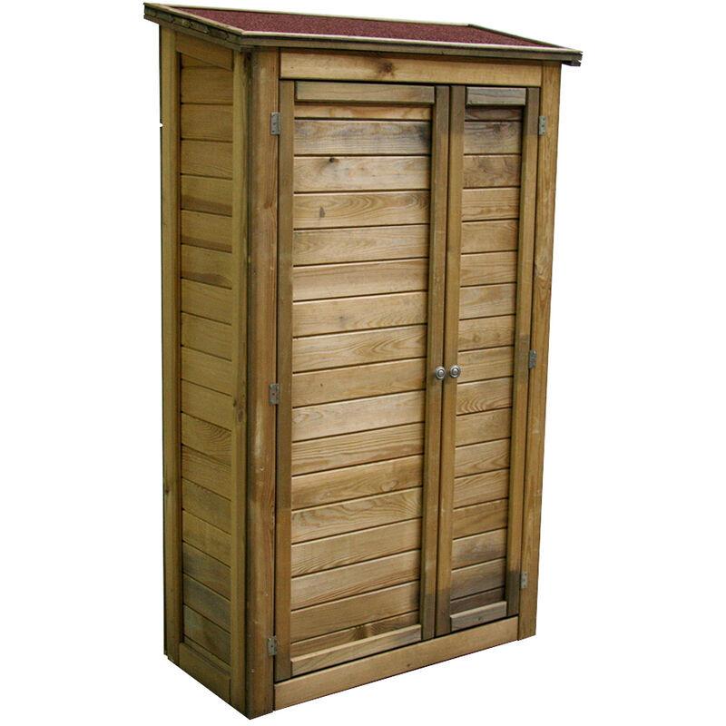 Cémonjardin - Armoire de rangement de jardin en bois traité 98x45x153cm, Lisboa