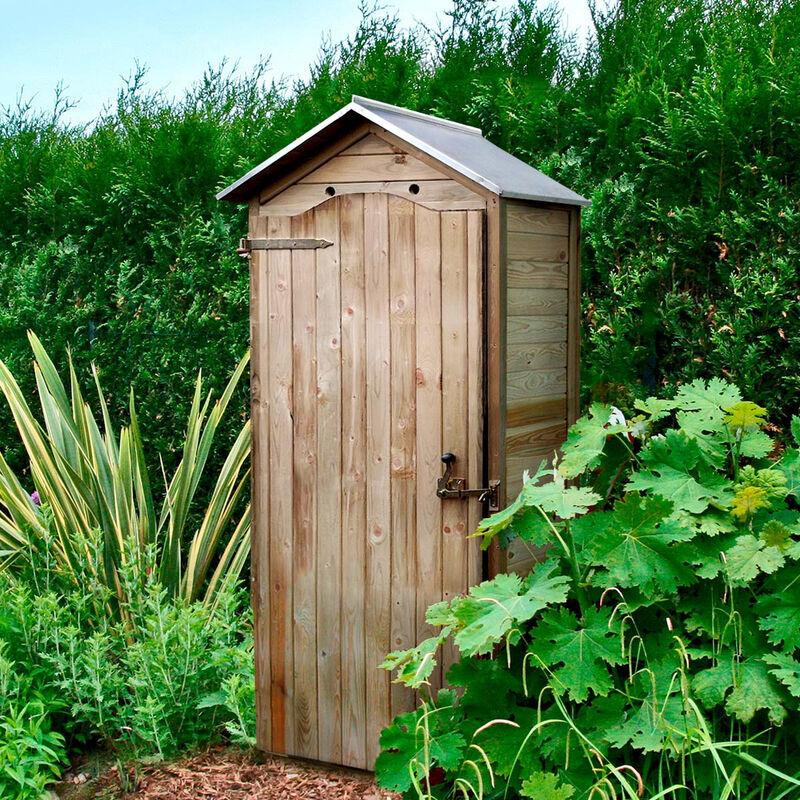 Cémonjardin - Armoire de rangement de jardin en bois traité 206x88x58cm, Panama