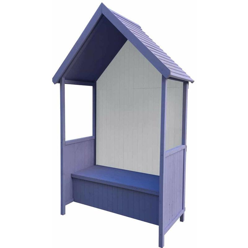 GARDIUN Banc de Jardin en Bois Coffre de Rangement Abribus Gardiun Alice Purple