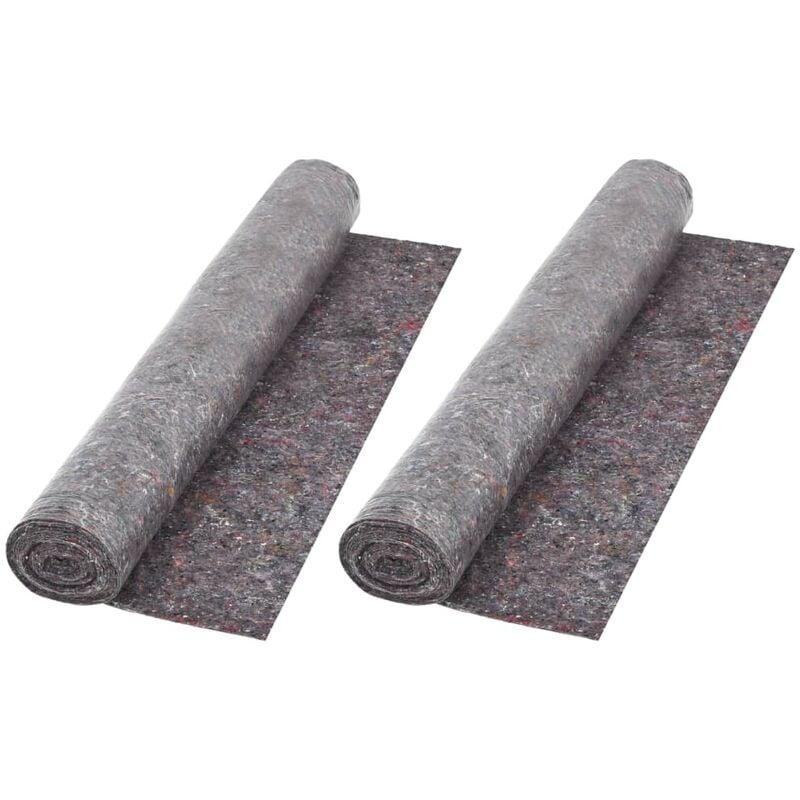 VIDAXL Bâche de Protection contre Peinture Gris 50 m 180 g/m² 2 pcs