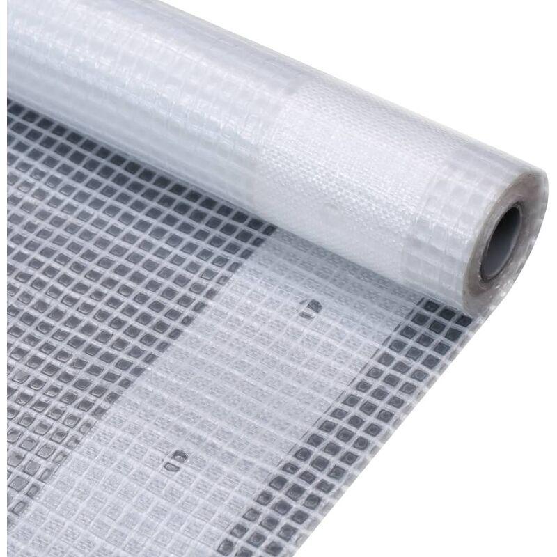 VIDAXL Bâche Leno 260 g/m² 2 x 5 m Blanc