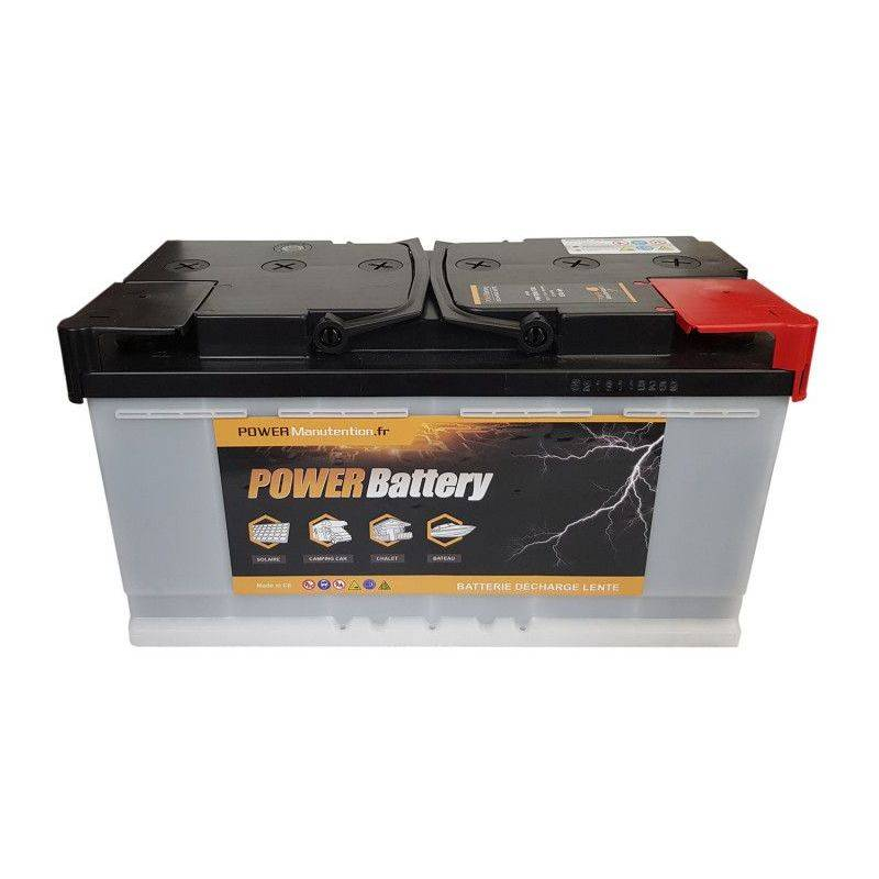 POWER BATTERY Batterie décharge lente Power Battery 12v 130ah