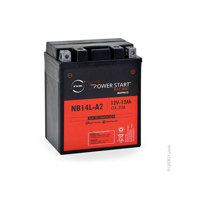 NX ™ NX - Batterie moto YB14L-A2 / NB14L-A2 / 12N14-3A 12V 12Ah