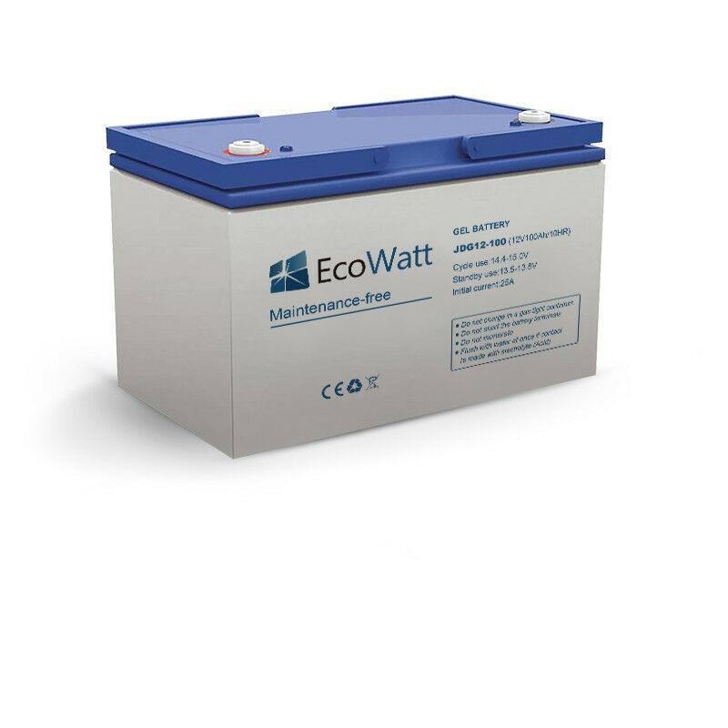 ECOWATT Batterie solaire gel 100ah 12v décharge Lente - Ecowatt