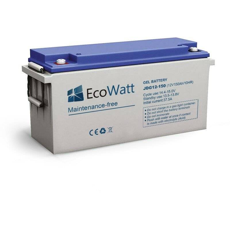 ECOWATT Batterie solaire gel 150ah 12v décharge Lente-EcoWatt