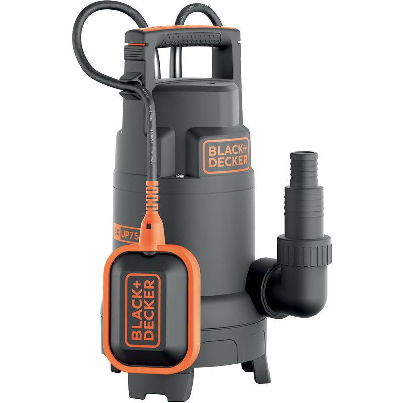 BLACK & DECKER Black+Decker BXUP750PTE Pompe Submersible Multifonction Eaux Claires et Eaux