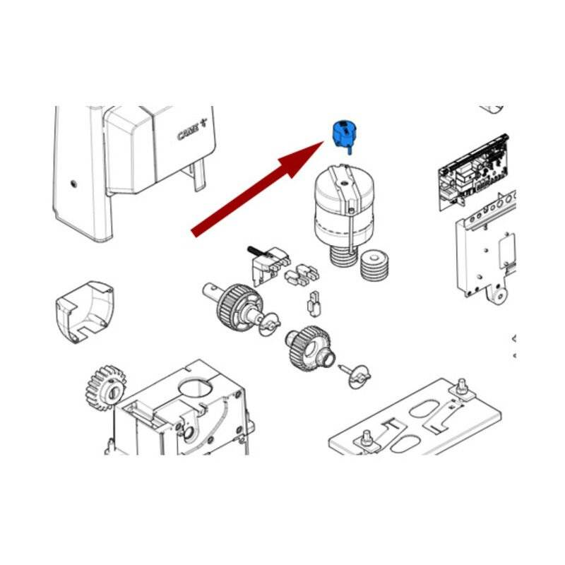 CAME pièce détachée groupe lecteur optique bx 88001-0121 - Came